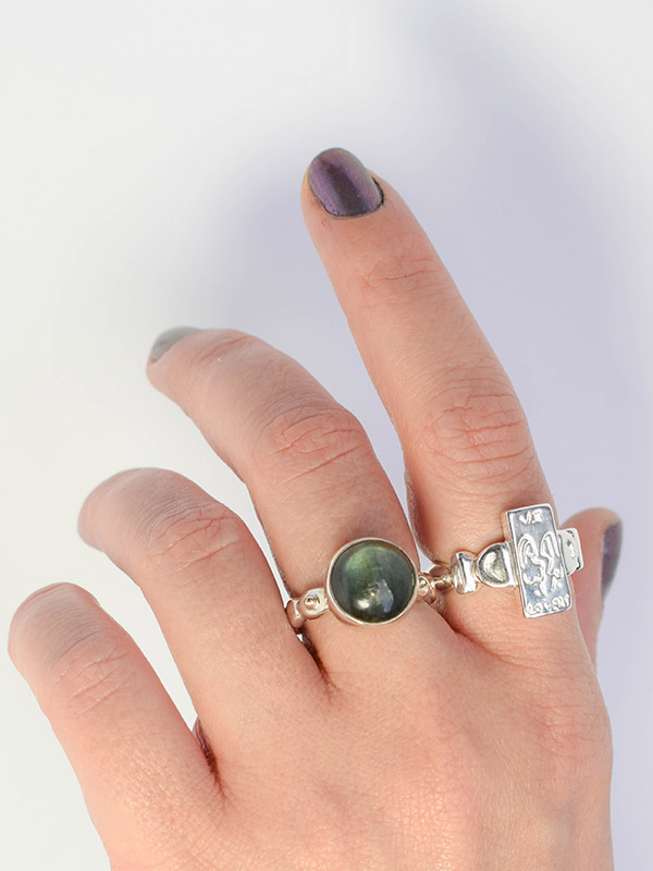 The Lovers tarot card ring