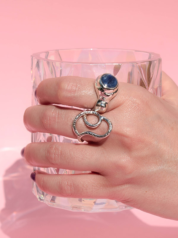 Statement gemstone ring