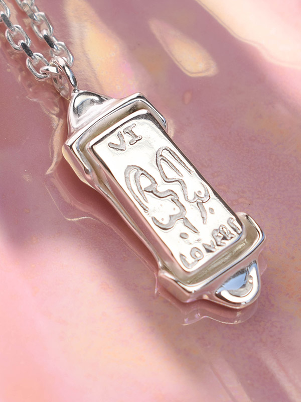 The Lovers tarot card necklace