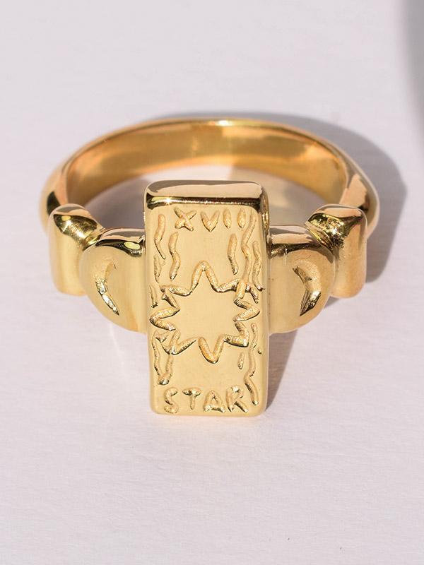 The Star tarot card ring