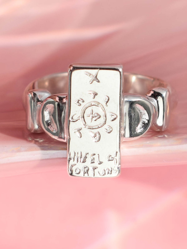 The Wheel of Fortune tarot card ring