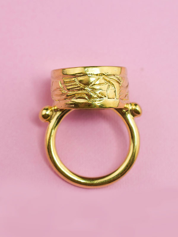 Gold witch ring