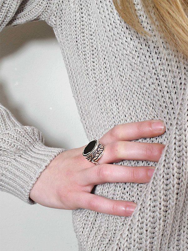 Δαχτυλίδι μαύρου όνυχα
