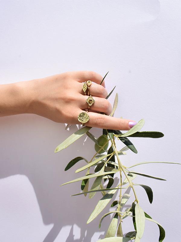 Δαχτυλίδι με κιτρινίτη