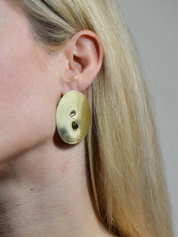 Big circle earrings