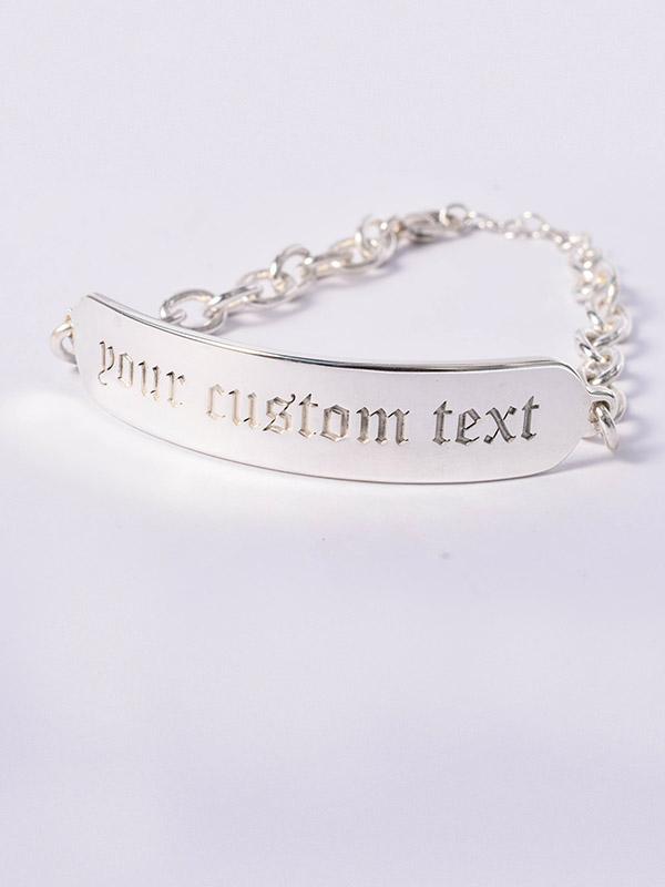 Custom bracelet tag