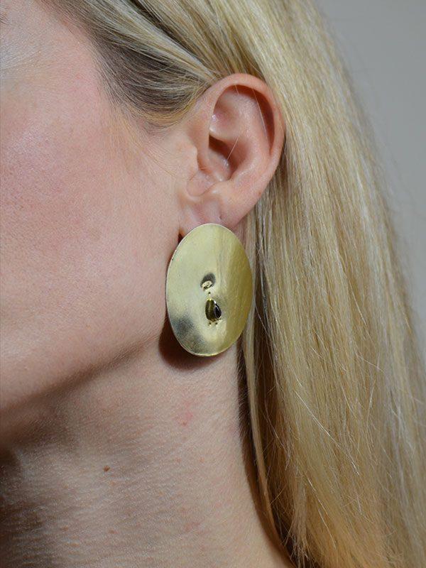 Μεγάλα κυκλικά σκουλαρίκια