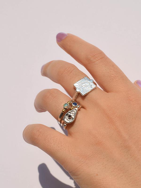 Small gemstone rings