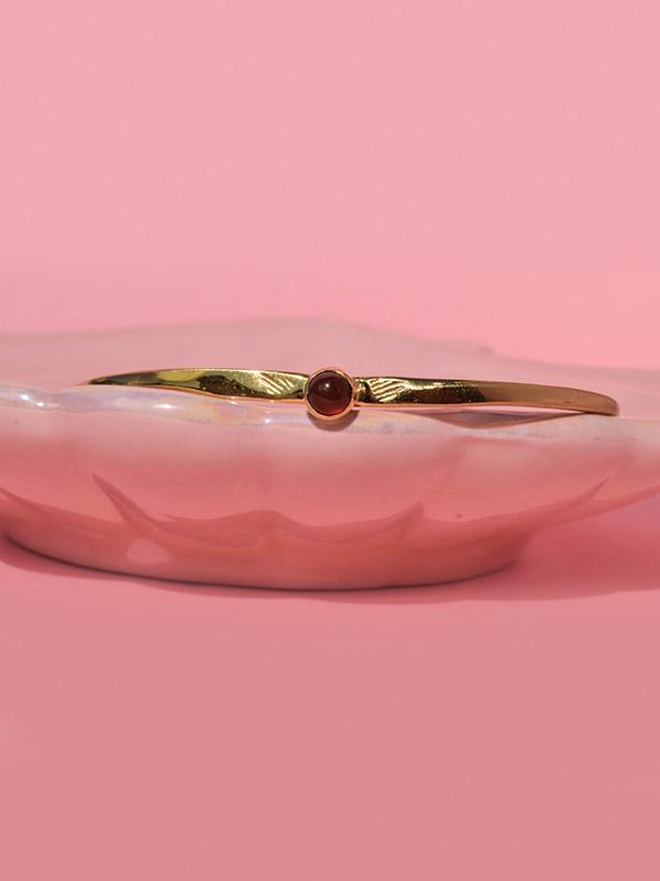 Red gemstone bangle