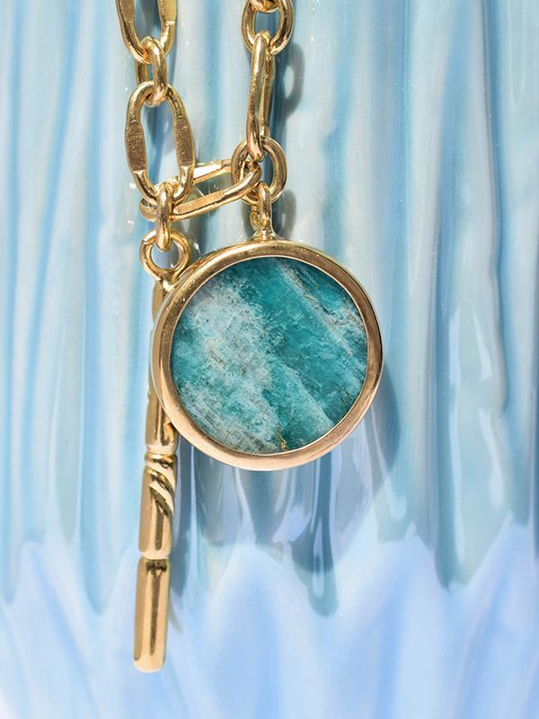Amazonite gemstone necklace