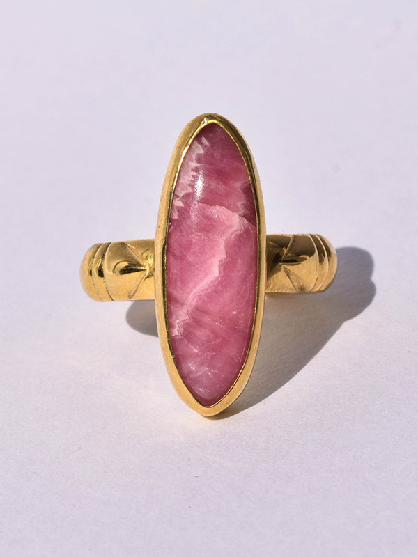 Pink gemstone ring