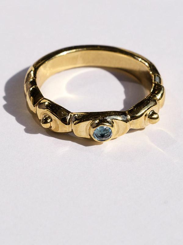 Light blue topaz ring