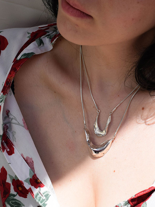 Chunky organic necklace