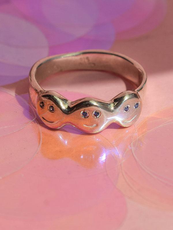 Δαχτυλίδι χαμογελάκι με κρυστάλλους