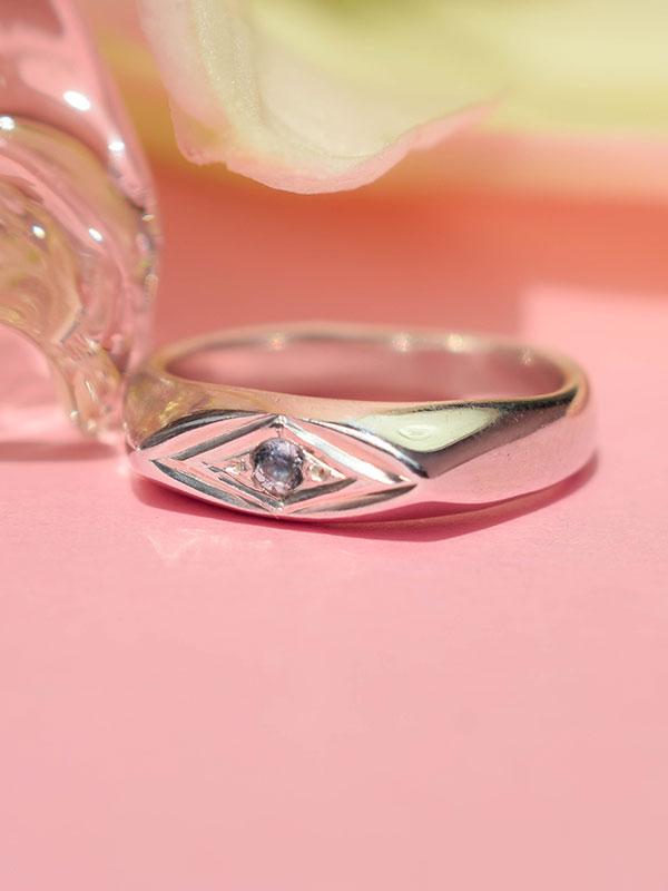 Ασημένιο δαχτυλίδι με Ακουαμαρίνα