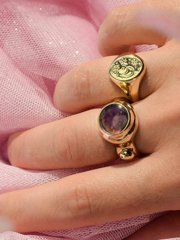 Big amethyst ring