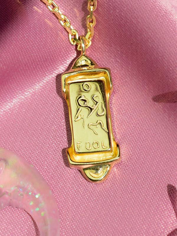 The Fool tarot card necklace