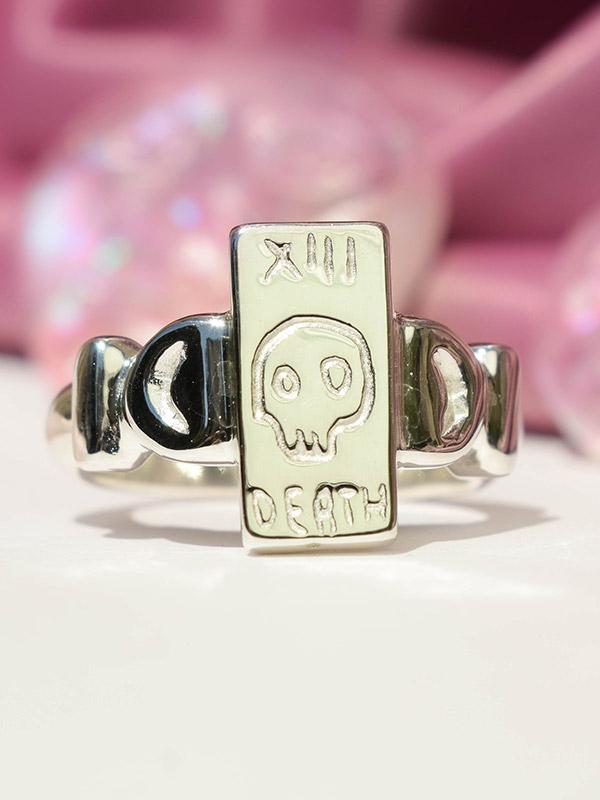 Death tarot card ring