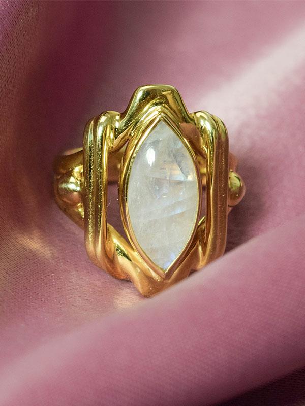 Big moonstone ring