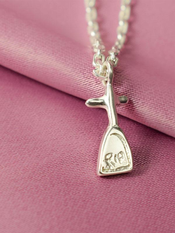 Tiny tombstone necklace