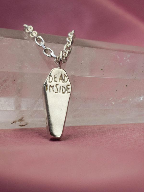 Minimalist coffin necklace